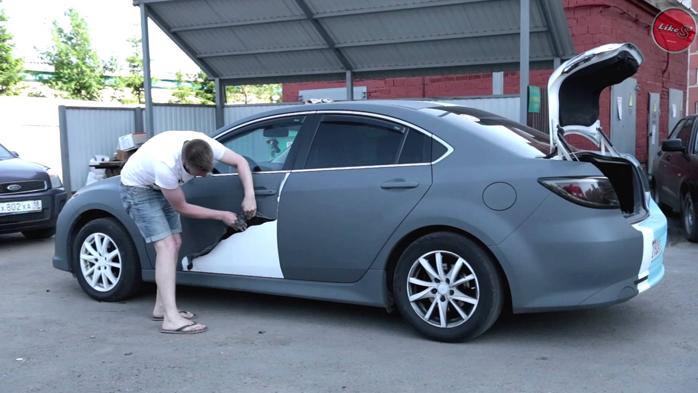 Как покрасить весь авто жидкой резиной своими руками 58